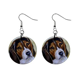 Beagle Earrings Limited Edition Art Jewelry