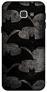 The Racoon Grip Bat Pattern hard plastic printed back case / cover for Samsung Galaxy A8