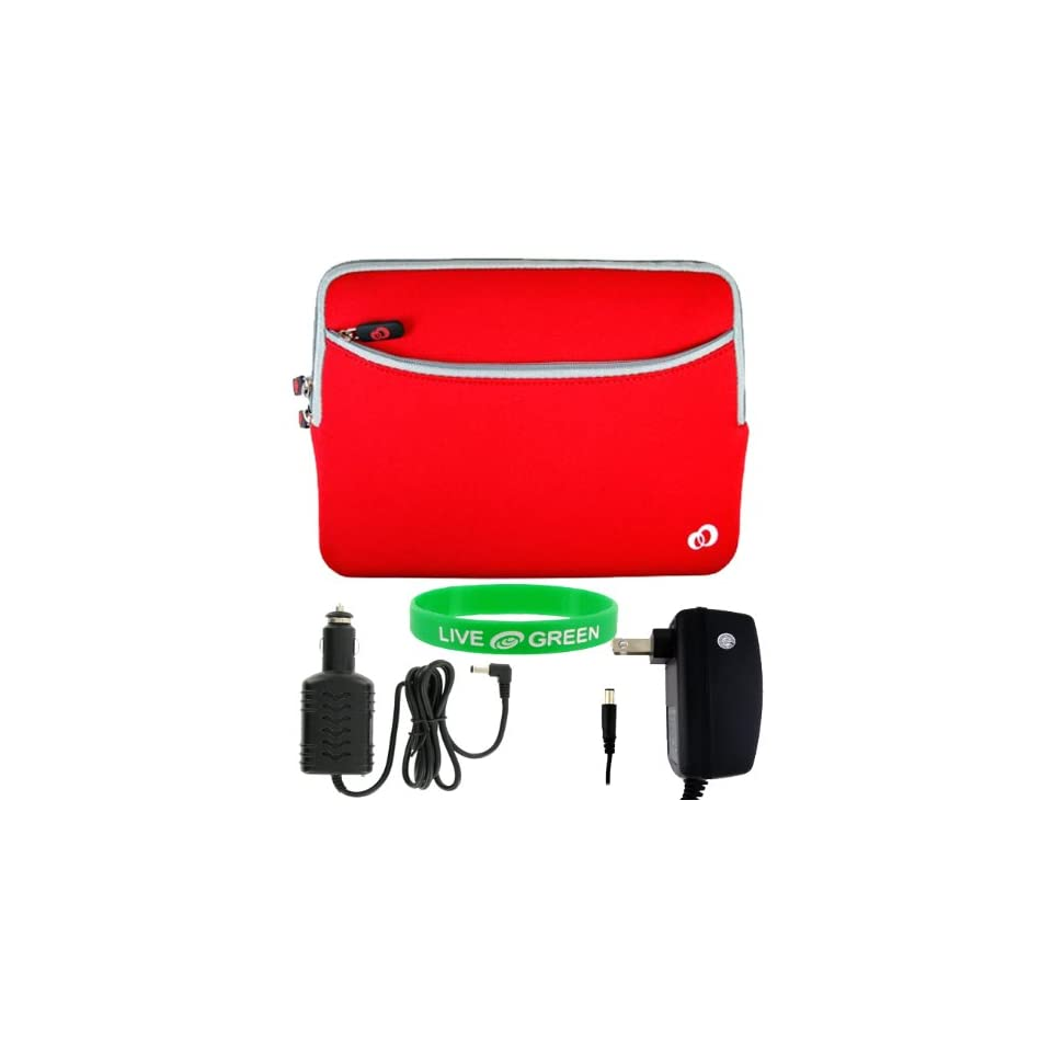 Dell Inspiron Mini 10 Inch 10.1 Inch Notebook Sleeve Case   Bundle with 12V Car and Wall Charger