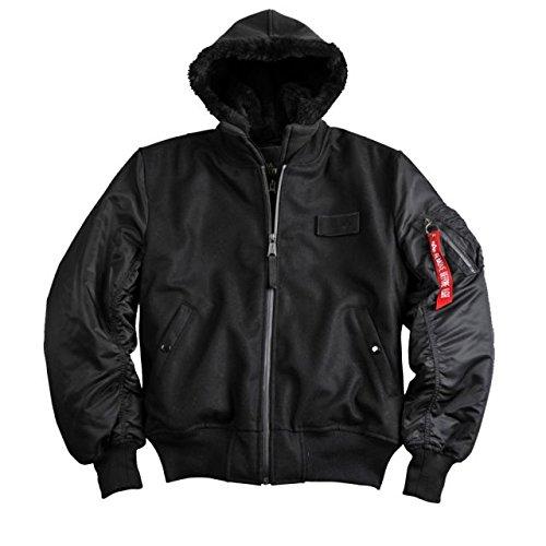 Alpha Ind. Jacke MA-1 D-Tec Wool – black NEU M – XXL jetzt kaufen