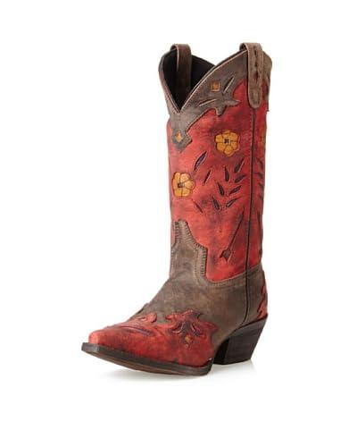 Dan Post Women's Laredo Miss Kate Arrow Boot  - Brown/Red