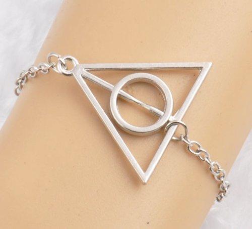 Vintage Harry Potter Deathly Hallows Alloy Cute Infinity Charm Jewelry Bracelet