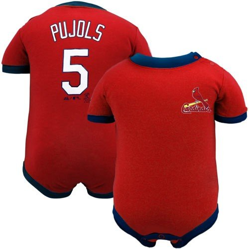 MLB Infant/Toddler Boys' St. Louis Cardinals Albert Pujols Name & Number Tee (Red, 24 Months) at Amazon.com