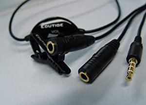 Smartline (ESL-001) Extension Cable with Volume Control, Lapel Clip & 3.5mm Audio Jack for i-Microphone