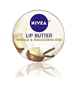 Nivea Lip Butter Loose Tin, Vanilla and Macadamia Kiss, 0.59 Ounce