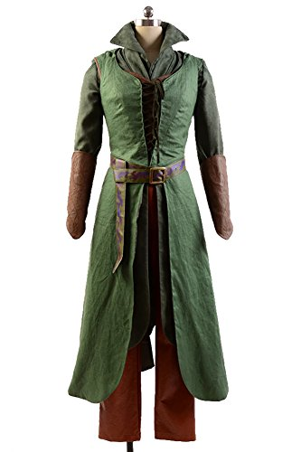 [The Hobbit costume Elf Tauriel Outfit Cosplay Uniform] (Elf Outfit For Women)