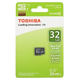Toshiba Professional 32 Go MicroSDHC Class 10 UHS-1 30Mo/s Carte Mémoire (SD-C032GR7WAR30)