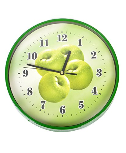 Green Apple Round Wall Clock