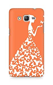 AMEZ designer printed 3d premium high quality back case cover for Samsung Galaxy Grand Prime (orange white girl princess)