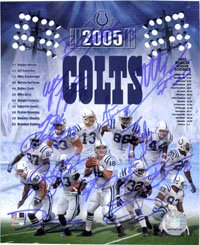 Signed Colts, Indianapolis (2005) 8x10 By the 2005 Indianapolis Colts: Reggie Wayne,... by Powers Collectibles