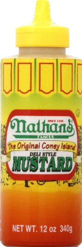 Nathan Coney Island Mustard, Squeeze Bottle, 12-ounce