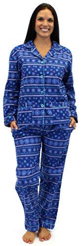 Sleepytimepjs Women'S Christmas Flannel Pajamas-Win-S front-508700