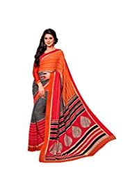 Vipul Branded Georgette Catalog Saree With Exclusive Foil Work