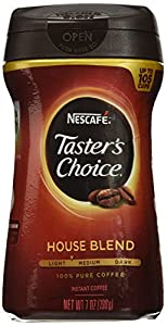 Nescafe Taster's Choice Instant House Blend Coffee, 7 Ounce Canisters (Pack of 3)