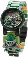 LEGO 8020523 - Reloj para niños, diseño Nexo Knights Aaron, multicolor
