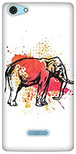 The Racoon Lean The Painted Pachyderm hard plastic printed back case / cover for Micromax Canvas Selfie 3 Q348