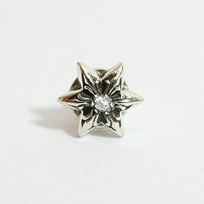 [クロムハーツ] カットアウト スター スタッド ピアス with ダイヤモンド / CHROME HEARTS star earring [並行輸入品]