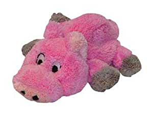 Outward Hound Kyjen  PP01135 PipSqueaks Pig Talking Plush Dog Toys Batteries Included, Small, Pink