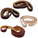 Alcoa Prime 4x 10 Meters Leather Strap Strips Leather Craft Belt Handle DIY Craft 15mm