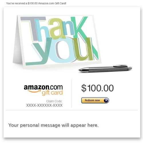 Amazon Gift Card - Email - Thank You (Note)