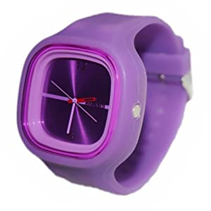 Silicon Jelly Watch Unisex Purple Gift