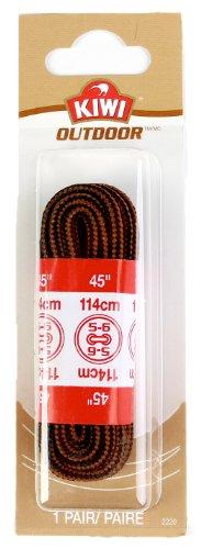Kiwi Boot Laces, 45-Inch, Round, Black