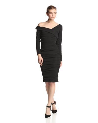 Melissa Masse Women's Asymmetrical Ruched Dress
