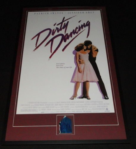 Patrick Swayze Signed Framed 28x44 Dirty Dancing Movie Poster Display JSA