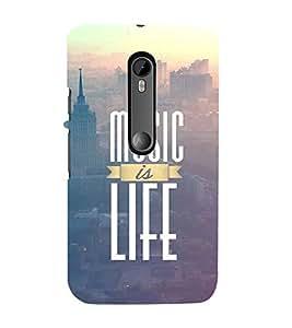 EPICCASE Music is life Mobile Back Case Cover For Moto X Style (Designer Case)