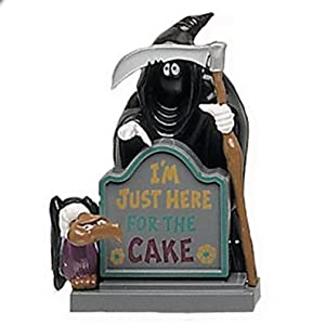 "Grim Reaper ""I'm Just Here For The Cake"" Cake Topper"