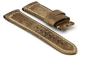 StrapsCo Distressed Premium Grey Leather Watch Strap in 24mm