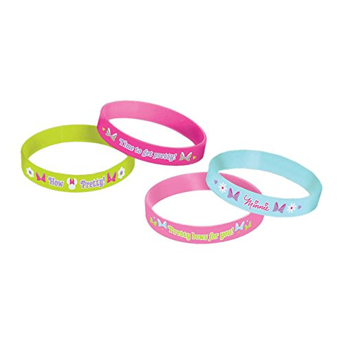 4-Piece Minnie Mouse Wristbands, Multicolored