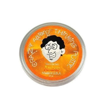 "Crazy Aaron's Putty World Amber Putty - 3.2 oz - 4"" Tin"