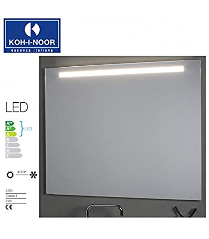 Koh-I-Noor L45791 Specchio Illuminazione Superiore LED 140 X, Cromo