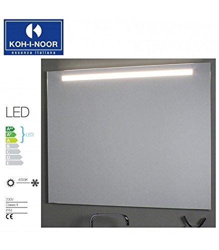 Koh-I-Noor L45757 Specchio Illuminazione Superiore LED 50 X, Cromo