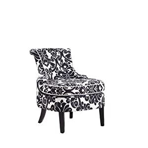 Powell Cap Arm Accent Chair with Diana Swoop Back