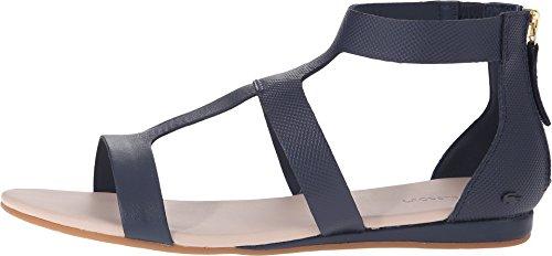 Lacoste Women's Atalaye 116 1 Gladiator Sandal, Navy, 8 M US