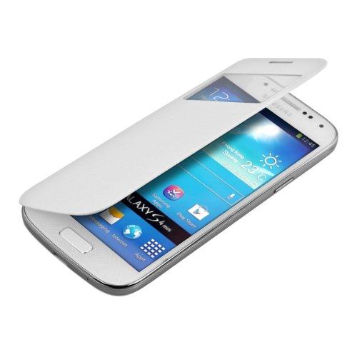 kwmobile フリップスタイル保護カバー Samsung Galaxy S4 Mini i9190 / i9195用 白色 - ふた付きフリップカバー