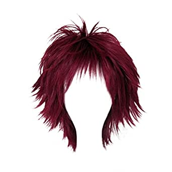 Dream2reality Cosplay_Naruto_Gaara_bottom curl_35cm_wine red_Japanese high temperature resistant fiber wigs
