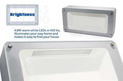 Bright Durable LED Address Numbers - Custom Lighted Address Plaques - Weather Resistant LED ...