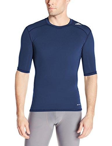 adidas Performance Men's Techfit Base Layer Short Sleeve Tee, X-Small, Collegiate Navy