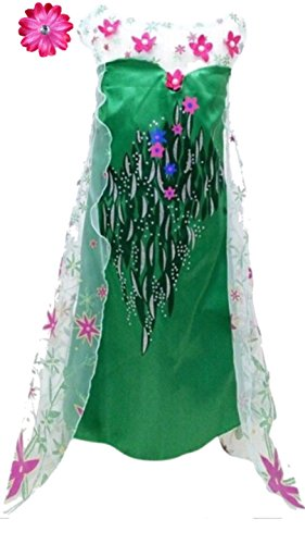 [Frozen Fever Inspired Dress with Hair Clip (2-3 Years, Elsa)] (Elsa 2t Costume)