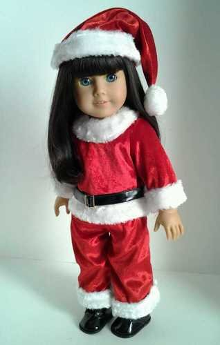 Christmas Holiday Santa Suit for American Girl Dolls