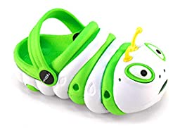 Kids Baby Little Kids Unisex Toddler Caterpillar Clog Summer Shoes (Toddler 5, Lime Green and White)