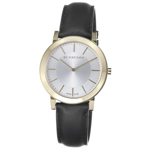 Burberry Men's BU2353 Slim Silver Dial Goldtone Quartz Watch