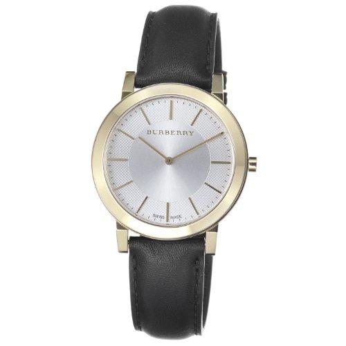 Burberry Men's BU2353 Slim Silver Dial Goldtone Quartz Watch