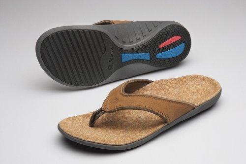 Spenco Yumi Leather - Mens Orthotic Sandals Medium Brown - 12 front-617821
