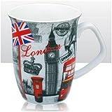 Elgate White With Pattern 10 Cm London Sketch Pad Fine Porcelain Clipper Mug 11