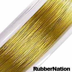 Wire Tiger Tail Beading Wire .38mm Gold 9 Meters/30Ft