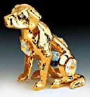 Dog 24K Gold Plated Swarovski Crystal Ornament New